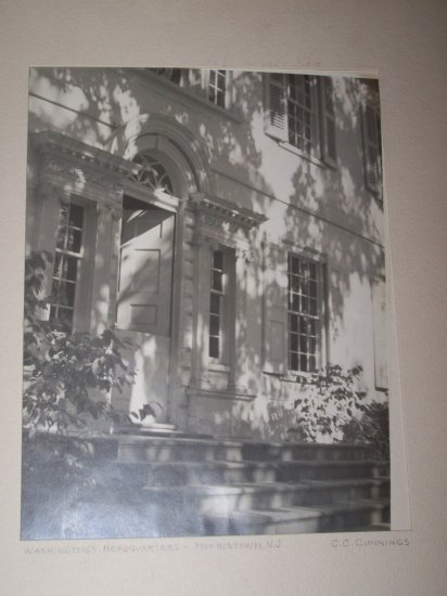 Vintage WASHINGTON'S HEADQUARTERS NJ Photograph Photo