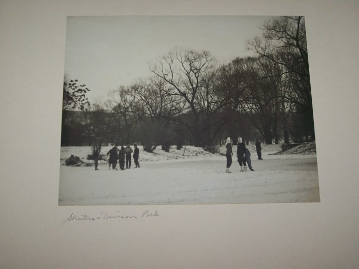 Vintage 1940s Winter Ice Skaters Photograph Photo