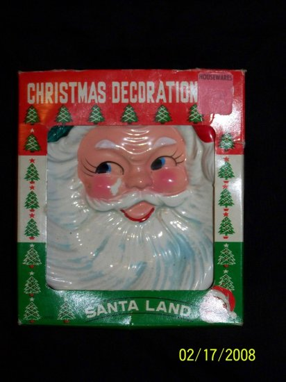Vintage 50s-60s SANTA CLAUS Christmas Candy Dish Japan