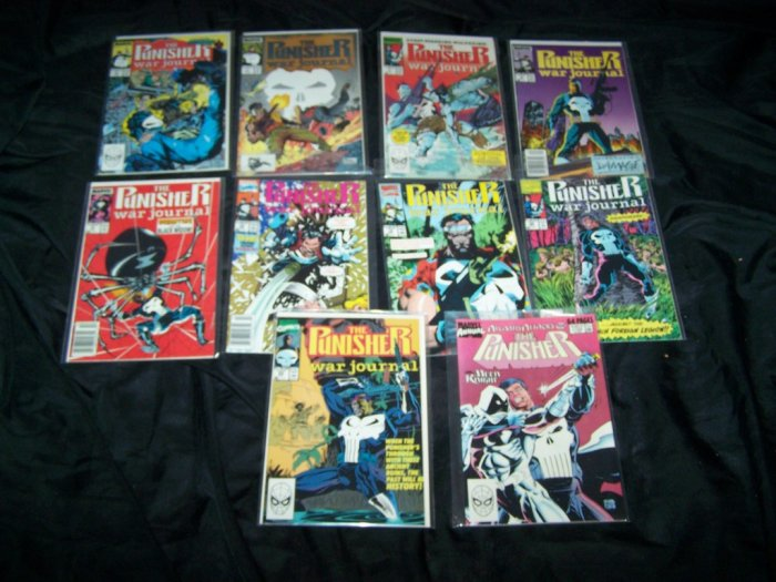 PUNISHER WAR JOURNAL Comic Book Lot 3-5,7-13,16-23