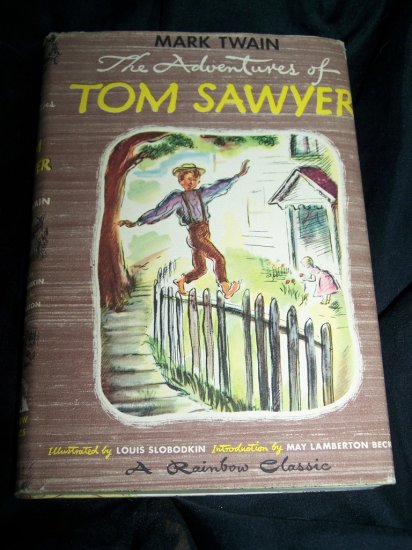 Vintage Adventures of TOM SAWYER Mark Twain HC/DJ Book