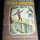 Vintage Adventures of TOM SAWYER Mark Twain HC/DJ Book