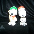 Vintage 1960s SNOOPY Figure SQUEAK TOY Lot Ski Golf