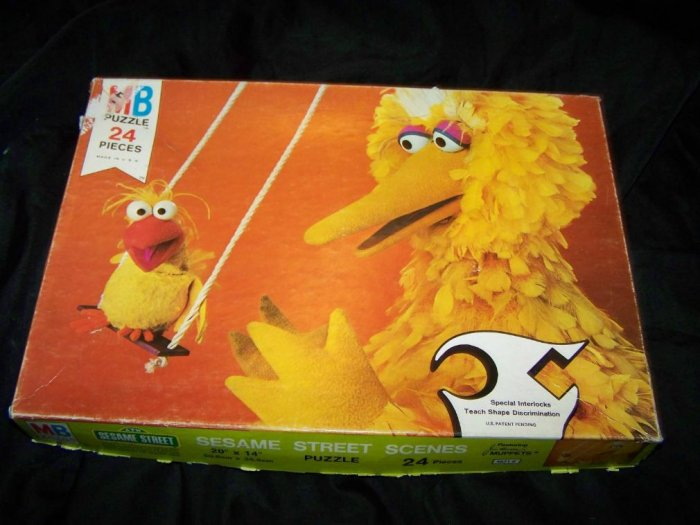 Vintage 1977 Sesame Street BIG BIRD Jigsaw Puzzle 24 pc