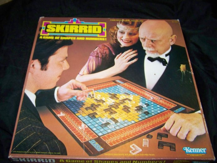 Vintage 1979 SKIRRID Shapes & Numbers Kenner Board Game