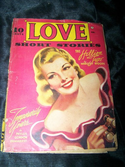 Vintage LOVE SHORT STORIES Feb 1942 Pulp Magazine