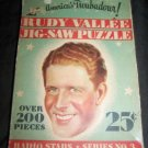 Vintage 1930s RUDY VALLEE Jigsaw Puzzle~Radio Series~Box