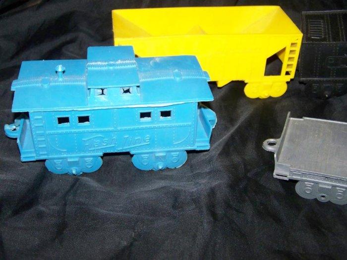 Vintage 60s Jumbo Vinyl Plastic Toy Train Railroad Lot