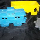 Vintage 60s Jumbo Vinyl Plastic Toy Train Railroad Lot