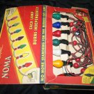 Vintage 1939 Christmas String Lights NOMA Box Lot Works