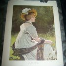 Antique 1882 GRAPHIC By River Victorian Woman Art Print