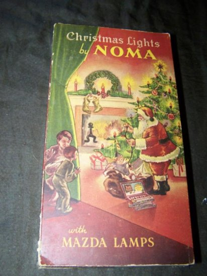 Vintage 1936 Christmas String Lights NOMA Box Lot Works