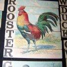 Antique 1880s-1890s Alphabet/ABC/Spelling Lithograph Children's Toy Cards~Birds