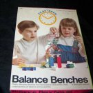Vintage 1970s Pressman PLAY HOUR BALANCE BENCHES Game Toy