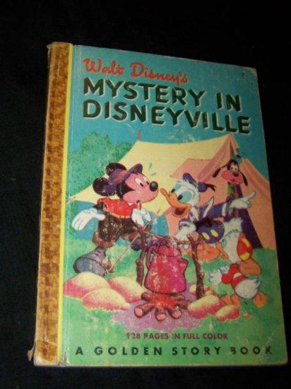 Vintage 1949 MYSTERY IN DISNEYVILLE Golden Story Book