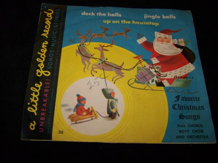 Vintage FAVORITE CHRISTMAS CAROLS 35 Golden Record 78