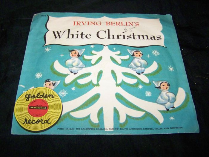 Vintage 1950s IRVING BERLIN WHITE CHRISTMAS Golden Record 78 R103