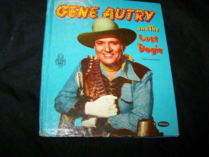 Vintage GENE AUTRY Lost Dogie Whitman Childrens Book