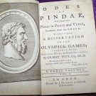 Antique 1766 ODES OF PINDAR Leather 1st Ed Gilbert West Book
