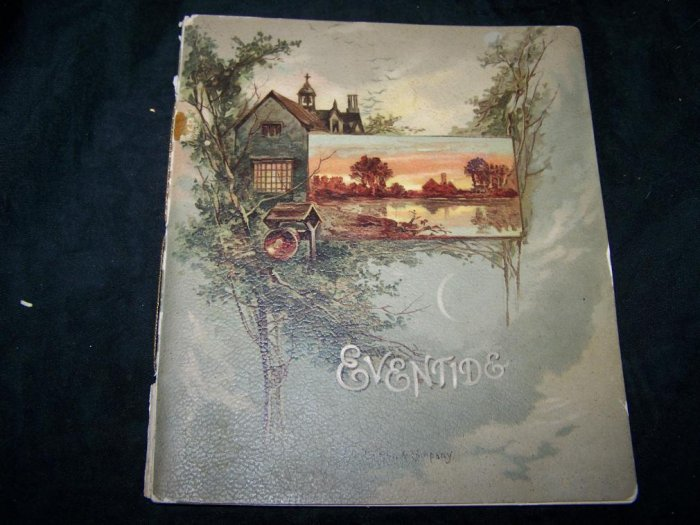 Antique~EVENTIDE SONGS SKETCHES Book~Nesbit~Robert Mack