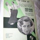 SHEET MUSIC 1935 GINGER ROGERS FRED ASTAIRE Irene Dunne ROBERTA RKO