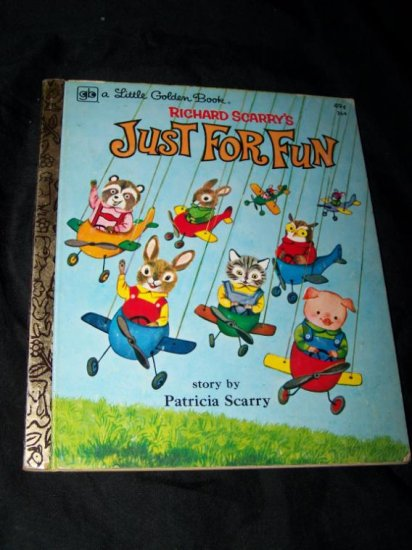 Vintage 1977 JUST FOR FUN Richard Patricia Scarry Little Golden Book