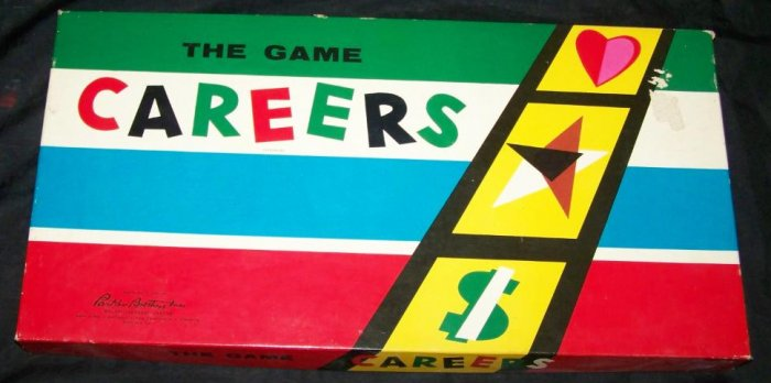 Vintage 1950s CAREERS Parker Brothers Board Game COMPLETE
