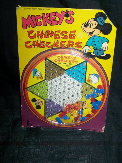 Vintage 1960s-1970s Disney MICKEY MOUSE CHINESE CHECKERS Game
