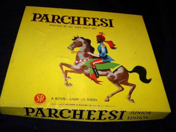 Vintage 1930s PARCHEESI Junior Board Game S&E COMPLETE