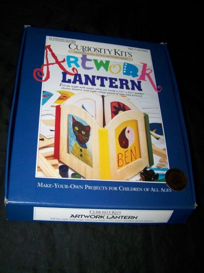 New Curiosity Kits ELECTRIC ARTWORK LANTERN Wood Paint