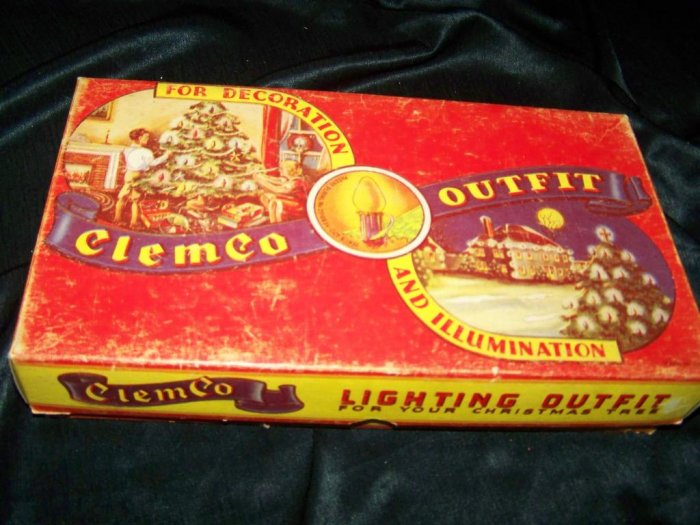 Vintage 1935 Christmas String Lights ClemCo Box Works