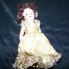"Vintage 1950s Hard Plastic Fashion Doll 5.5"" Painted Face"