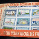 Vintage 1939 NEW YORK WORLD'S FAIR Poster Stamp Set