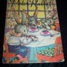 Vintage 1938 PETER RABBIT Ruth E Newton Linen-Like Book