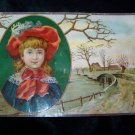 Victorian/Antique 1880s Chromo Litho Lithograph Trading Card Child