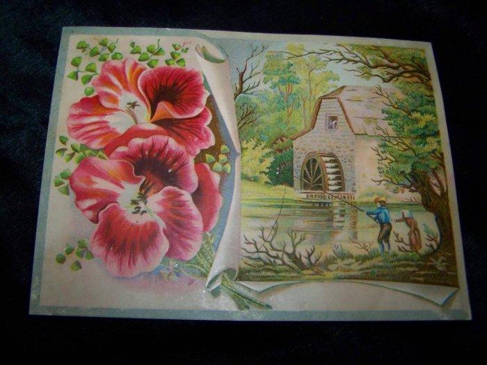 Victorian/Antique MILL CREEK Chromo Litho Trading Card