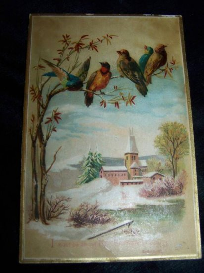 Victorian/Antique Christmas Chromo Litho Trading Card