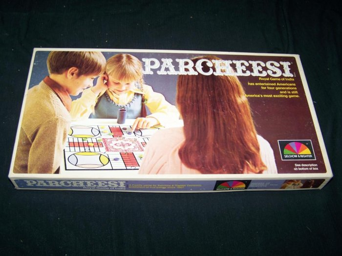 Vintage 1975 PARCHEESI Board Game Selchow & Righter 70s
