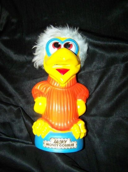 Vintage JACKY MONEY GOBBLER Plastic Bank~Animals Plus