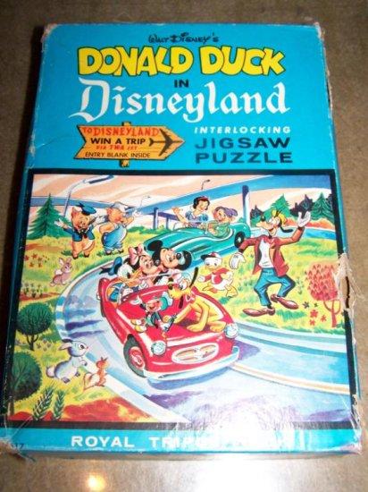 Vintage 1960s Donald Duck Disneyland Walt Disney Puzzle