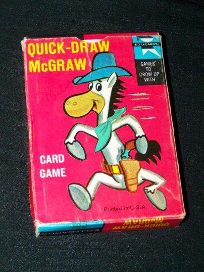 Vintage 1961 QUICK DRAW MCGRAW Ed-u-Card Card Game 1960s