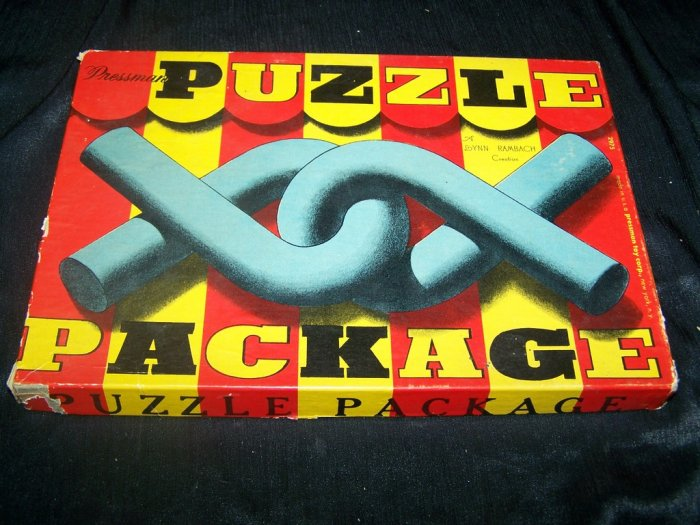 Vintage 1930s PRESSMAN PUZZLE PACKAGE Magic Wire Game
