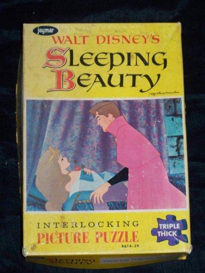 Vintage 1950s Jaymar Walt Disney SLEEPING BEAUTY PUZZLE