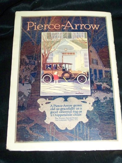 Antique OUTLOOK Magazine Jan 1916 PIERCE-ARROW CAR Ad