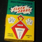 Vintage 1960s MULTIPLICATION MATH FLASH CARDS Game Set