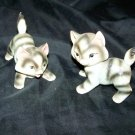 Vintage 1950s Grey Tabby Cat Playing Kitten Figurine Lot