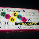 Vintage CHA CHA CHECKERS Hasbro Hassenfeld Board Game