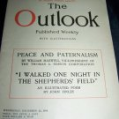 Vintage OUTLOOK Magazine Dec 25 1918 SHEPHERDS FIELD