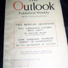 Vintage OUTLOOK Magazine Nov 8 1916 Mexico Carranza