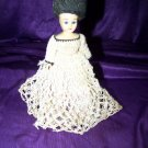 "Vintage 50s Hard Plastic Crochet Dress Fashion 8"" Doll"